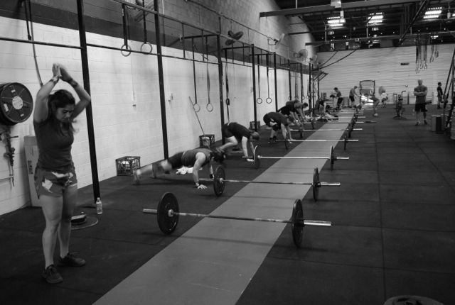 group burpees bw