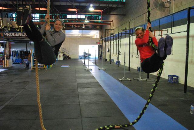 April Hoppo rope hang