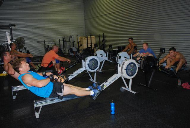 Boys rowing
