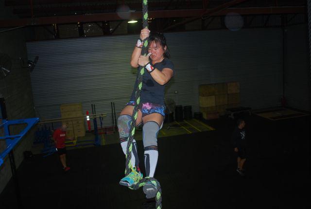 Julie L rope climb