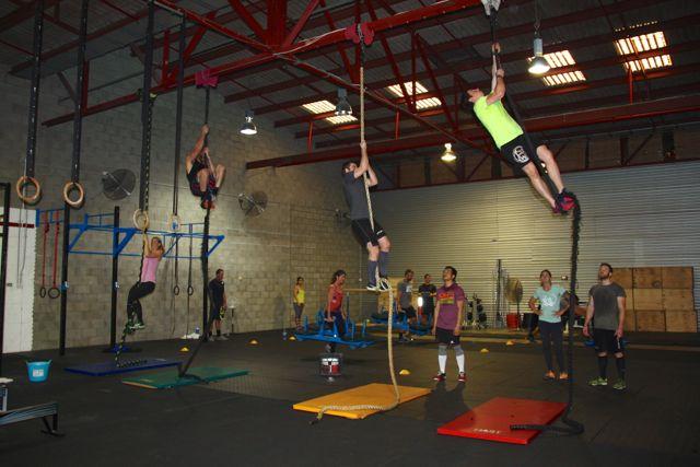 rope climb fun