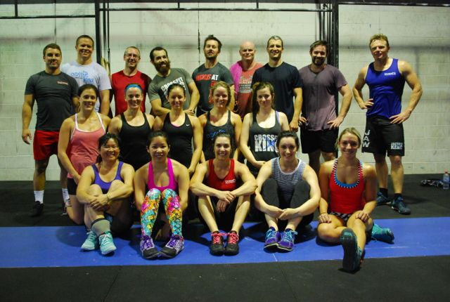 9.30am post WOD. Fun session with this crowd.