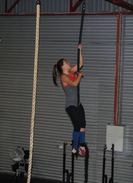 Naomi H rope climb
